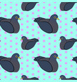 seamless vintage pattern with pigeon birds vector image