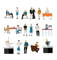 set of restaurant employees and visitors vector image vector image