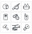 Set of SWAT Police Icons Rapid response vector image vector image
