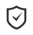shield check mark logo icon design template vector image vector image