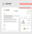 shopping bag business letterhead envelope and vector image vector image