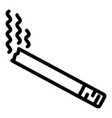 smoking addiction icon outline style vector image vector image