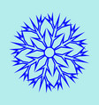 snowflake sign 2911 vector image vector image