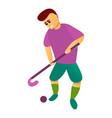 start match field hockey icon cartoon style vector image vector image