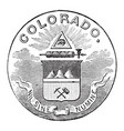 the official seal of the us state of colorado in vector image vector image