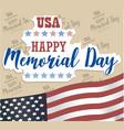 usa memorial day happy memorial day card vector image vector image