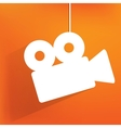 Videocamera web icon flat design vector image