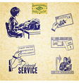 Vintage communication set vector image