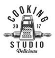 vintage kitchenware logotype vector image vector image