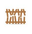 wooden broken fence vector image vector image