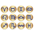 zodiac sign icons vector image vector image