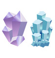 set of gemstones vector image