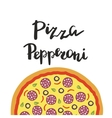 Pepperoni Pizza and hand vector image