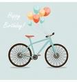 Retro Bicycle Background vector image