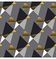 abstract gold and black geometric seamless pattern vector image vector image