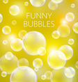 Abstract soap bubbles background Transparent vector image vector image