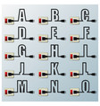 Alphabets Character Letter Electric Wire Line vector image vector image