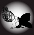 an image of an angel and a moth simolizes support vector image vector image