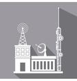 antenna transmission building satellite signal vector image vector image