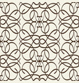 Arabesque seamless pattern in line style