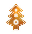 baked christmas tree sweet classic cookie with vector image vector image