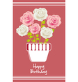 Birday card with colorful roses vector image