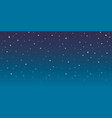 blue space background with stars cosmos night vector image vector image