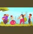 body positive fitness composition vector image