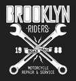 brooklyn repair service vintage shirt print vector image