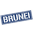 brunei blue square stamp vector image vector image