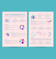 business brochure with various infographics vector image vector image