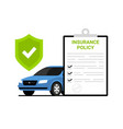 car insurance policy finance form money concept vector image