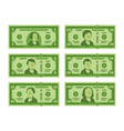 cartoon banknote dollar cash money banknotes and vector image vector image