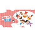 children lying vector image vector image