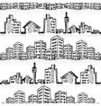 Cityscape sketch seamless vector image vector image
