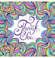colorful thank you card vector image vector image