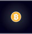 cripto currency logo coin bitcoin vector image