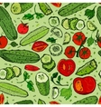Cucumber Tomato Pattern 01 A vector image vector image
