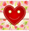 cute smiling heart vector image vector image