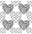 decorative hearts black and white vector image
