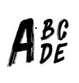 Detailed hand written brush font type alphabet vector image