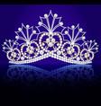 diadem crown female tiara with precious stones vector image vector image