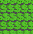 Dollar seamless pattern Green Dollar background