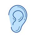 ear line icon vector image vector image