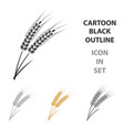 ears of wheat pasta icon in cartoon style isolated vector image vector image