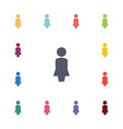 female flat icons set vector image vector image