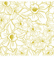 ffloral seamless pattern with contours of flowers vector image vector image