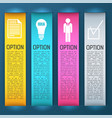 four bright vertical banner set vector image