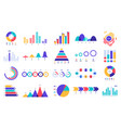 graphic charts icons finance statistic chart vector image vector image