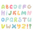 hand drawn abc set isolated on white background vector image